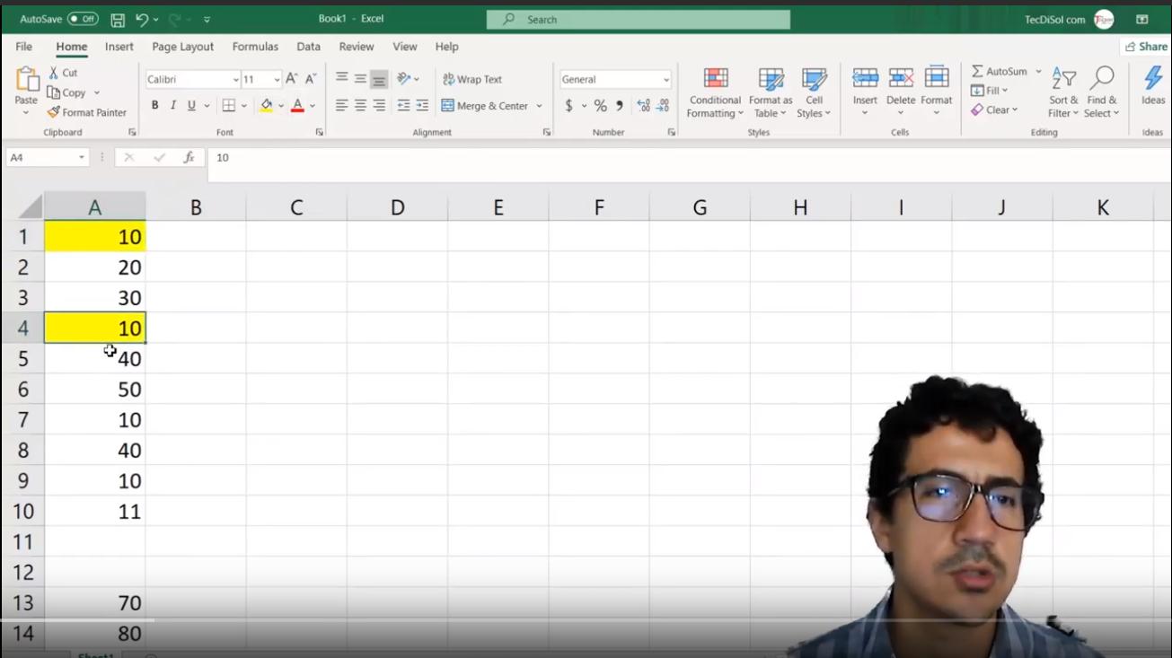 Identificar Datos Repetidos en una columna de MicroSoft Excel