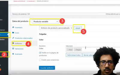 Como agregar Atributos y Variables a los productos del plugin WooCommerce de WordPress