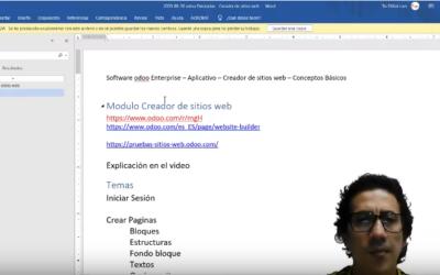 Software odoo Enterprise – Aplicativo – Creador de sitios web – Conceptos Básicos