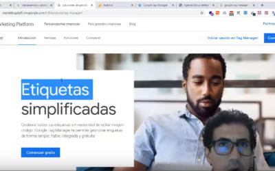 Implementar – Google Tag Manager y Google Analytics; en un sitio web (Google Marketing Platform)