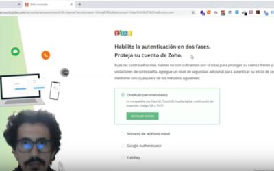 Como se activa accidentalmente la Autenticación de dos factores en ZOHO mail